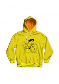 Hoodie Si Juki x Spongebob Yellow