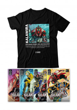 PAKET T-SHIRT KALAWIRA + KALAWIRA Origin Series Issues #01 - #04