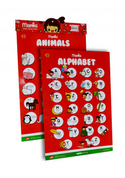 Learning Poster Manka Alphabet and Animals