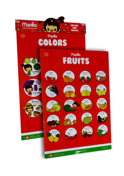 Learning Poster Manka Colors and Fruits