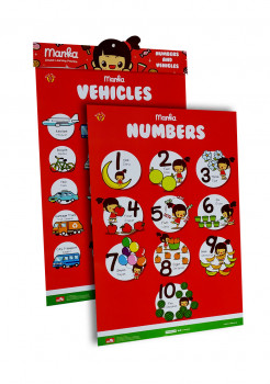 Learning Poster Manka Numbers and Vehicles