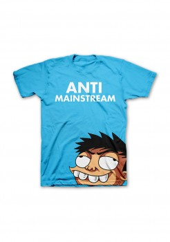 Kaos Si Juki Anti Mainstream Biru