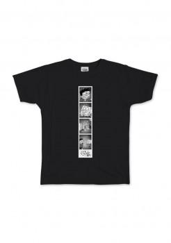 T-Shirt Si Juki x Spongebob Black Polaroid