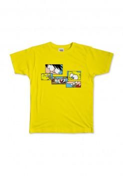 T-Shirt Si Juki x Spongebob Yellow Puzzle